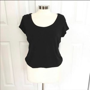 Kate Hill cropped black blouse